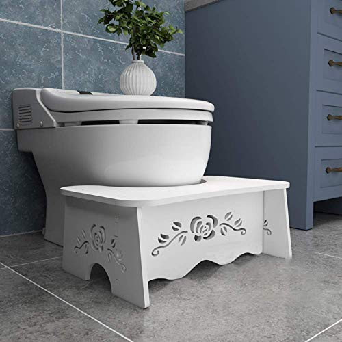 Toilettenhocker Erwachsene- den Gesunden Stuhlgang - Gegen Hämorrhoiden, Verstopfung, Blähungen - Passform für alle Toilette - Klo Hocker für Erwachsene & Kinder - WC Hocker für Badezimmer & WC