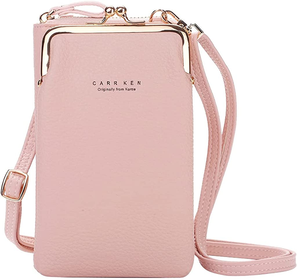 Leather Phone Crossbody Bags Purse for Women,PU Cellphone Shoulder Bags