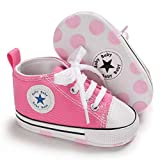 Save Beautiful Baby Girls Boys Canvas Sneakers Soft Sole High-Top...