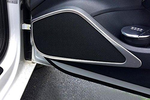 para A3 8V 2012-2019 Sedán / Sportback Cromado Altavoz Molduras Interiores Acero Inoxidable 4 piezas