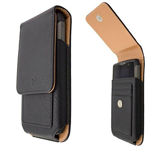 caseroxx mobiele telefoon tas outdoor tas voor Blackview BV5800 / BV5800 Pro van echt leer, telefoonhoes voor riem in zwart