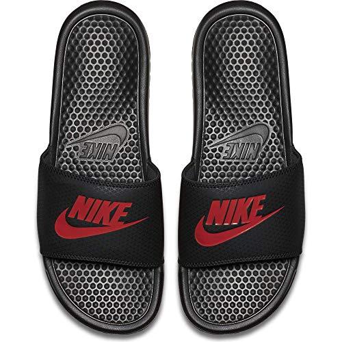 Nike Benassi JDI, Chaussures de Fitness garçon, Noir Black Challenge Red 060, 37.5 EU