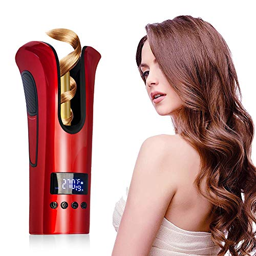 New Lucky star ZLY Curling Iron,Automatic Tourmaline Ceramic Heater and LED Digital Portable Mini Ha...