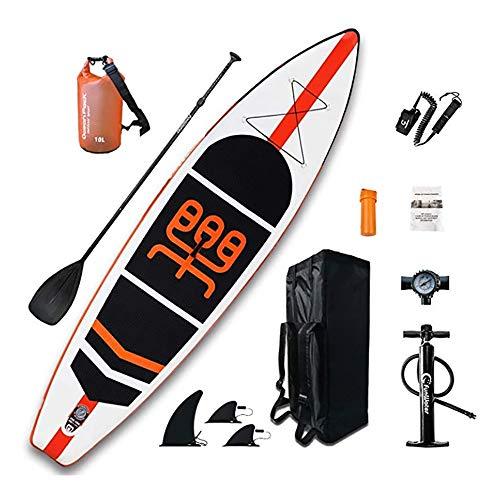 NgMik Tabla De Surf Inflable Soporte Inflable Tablas De Paddle Up 11' X 33 'x 6' Sup Accesorios Llenos for Todos Los Niveles Estable (Color : White, Size : 335x84x15cm)
