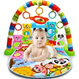Xiangtat Baby Kick 'n Play Piano Gym Toys Colourful Musical Play Gym Playgym Piano Play Mats Playmat Animal