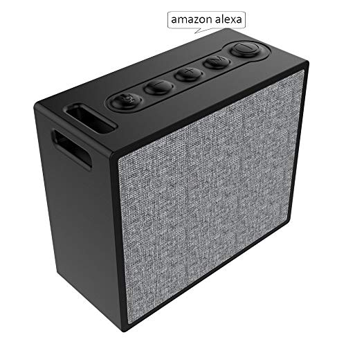 Smart Bluetooth Speakers,Portable WiFi Speaker with Amazon Alexa,Multi-Room Music,Stream Online Music,Voice Control and Smart Home Control,IP56 Splashproof Subwoofer Stereo Sound.- Black