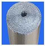 RSH Autoadhesivo Aislamiento Termico Aluminio Reflexivo para Techo, Pared Y Fachada Aluminio Aislante con Burbujas Papel De Burbujas De Aluminio, Doble Aislamiento, Suelo Loft Pared (Size : 1 * 20m)