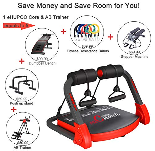 Product Image 2: eHUPOO Ab Machine Abs Workout Equipment, Abs and Whole Body Exercise Equipment for Home Workouts,Core Strength Training&Abdominal Exercise Trainers With Resistance Bands for Home Gym.USA Patented