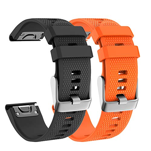Best Deals! Isabake for Garmin Fenix 5 Watch Bands, Soft Silicone 22mm Width Replacement Strap for F...
