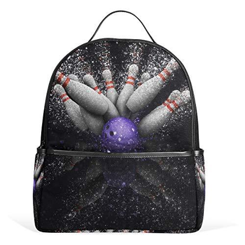 Eslifey Bowlingball Büchertasche Schultasche Tagesrucksack für Studenten