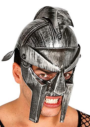 Magic Box Casco de Gladiador Romano de plástico Plateado