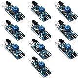 ZHITING 10pcs Modulo sensore evitamento ostacolo a infrarossi IR da per Arduino Smart Car Robot a 3 Fili