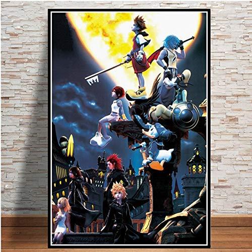 Puzzle 1000 Piezas Kingdom Hearts Video Game Popular Anime Cartoon Art Imagen Puzzle 1000 Piezas Educativo Divertido Juego Familiar para niños adultos50x75cm(20x30inch)