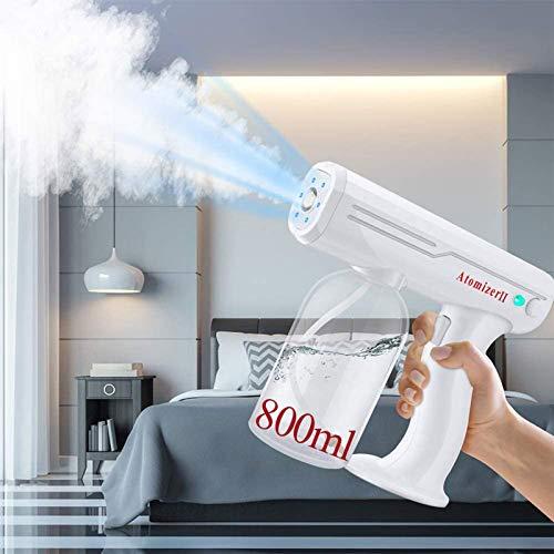 HUIIUH ULV Fogger Machine Desinfection Sprayer Machine Gun Wireless Nano Blue Ray Electric Sprayer 800ML Handheld Portable Disinfectant Atomizing Sprayer for Hospitals Home Office School Beauty Salon