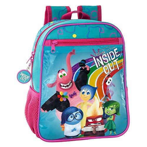 Disney Inside out Mochila Preescolar, 6.44 litros, Color Azul