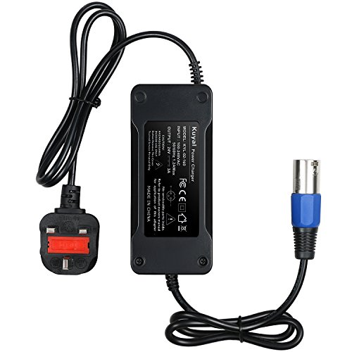 Kuyal 24V 3A 72Watt Power Supply Charger for Jazzy Power Chair, Electric Power Wheelchair Adapter, 3 Wheel Mobility Scooter Charging Cable (24V 3A)