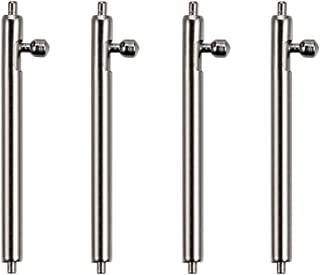 Berfine 4pcs Quick Release Spring Bar Watch Band Pins 1.8mm Diameter with Push Button