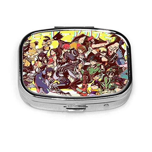 D-enki K-aminari Anime caja de pastillas de metal cuadrada o soporte organizador bolsillo o cartera organizador de viaje