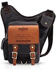 FANDARE Vintage Sling Bag Schoudertas Messenger Bag Hiking Bag Crossbody Bag Rugzak Canvas