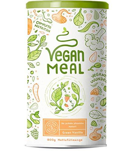 VEGAN MEAL - Green Vanilla - Der nährstoffdichte pflanzliche Mahlzeitersatz - Gemüse, Obst, Protein, Vitalpilze und Adaptogene - 800g veganes Pulver