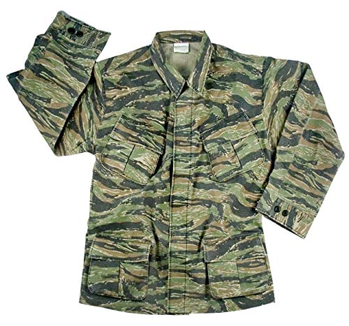 Rothco Vintage Vietnam Fatigue Shirt Rip-Stop, 2XL, Tiger Stripe Camo