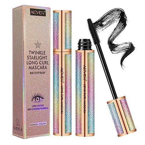 4D Silk Fiber Lash Mascara ,Natural Waterproof Smudge-proof Mascara, Natural Thickening Lengthening Mascara No Clumping, No Smudging Lasting All Day & Easy to Remove