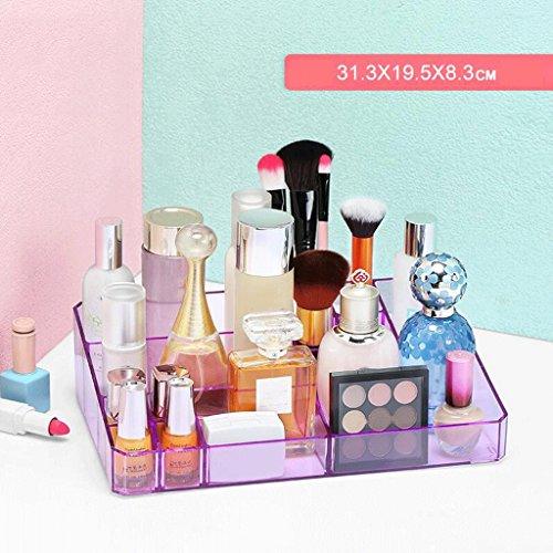 Étui de Maquillage Cosmétique Organisateur Maquillage Brush Titulaire Multifonction Rouge à Lèvres Rack De Rangement Dream Girl Dressing Table De Bureau Grand Transparent De Bureau Grand Espace Non-Ac