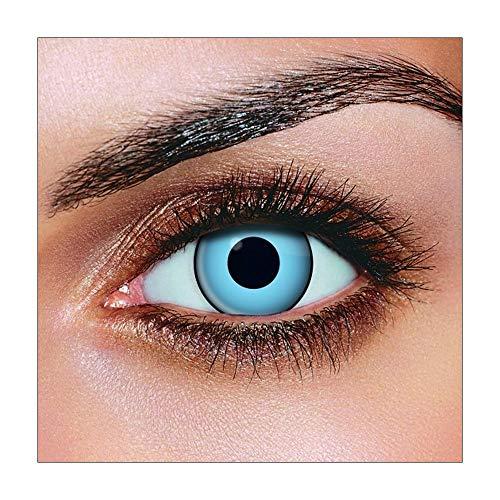 Funky Vision Kontaktlinsen - 3 Monatslinsen, Blue Manson, Ohne Sehstärke, 1 Stück