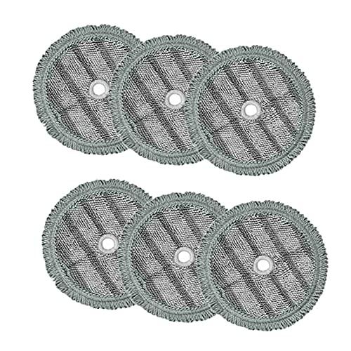 Musen 6PCS Pad Pad Fit para LG Paño de Limpieza de Microfibra MOP de Vapor Ajuste para LG Accesorios de Limpieza de Vapor MS (Color : Transparent)