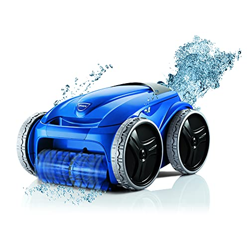Polaris 9450 Sport Robotic Pool Cleaner, Automatic Vacuum for InGround Pools up to 50ft, 60ft Swivel Cable, Wall Climbing Vac w/ Strong Suction & Easy Access Debris Canister