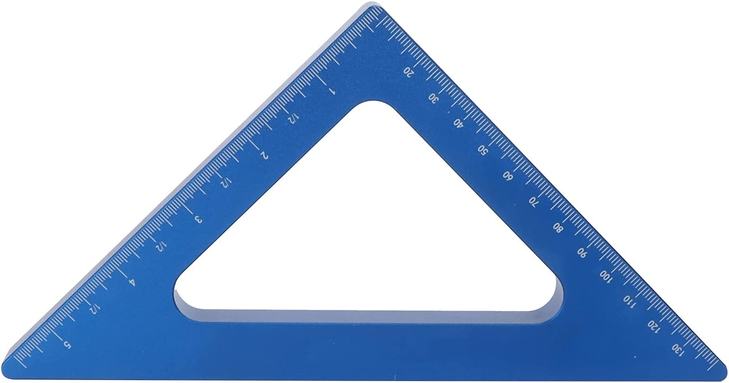 Max 71% OFF Triangle Easy-to-use Ruler Blue 90 Degree Alloy Inch Metric Aluminum Square
