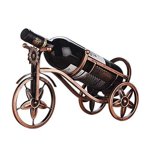 Brightz La Forma del Coche Estante del Vino Europeo Creativo Bar de vinos Gabinete Porche partición decoración Sencilla decoración del hogar Estante de la Botella de Bronce Moderna de Regalo Elegante