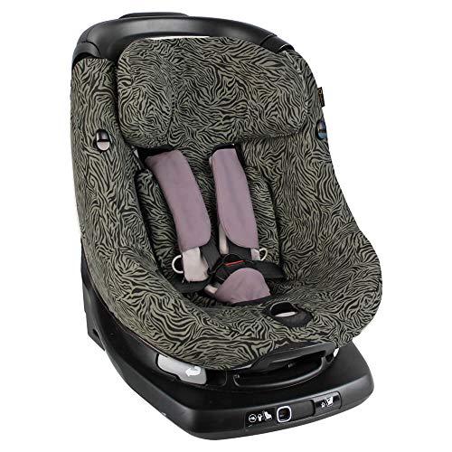 Bezug Maxi Cosi AxissFIX Kindersitz Grün Zebra Baumwolle Öko-Tex Standard 100 Maschinenwaschbar Perfekte Passform Schützt vor Verschleiß und Abnutzung