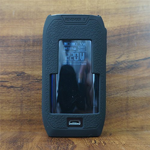 ModShield for Vaporesso REVENGER X 220W TC Silicone Case ByJojo Cover Shield Wrap Skin (Black)