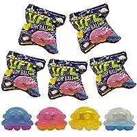 【5個セット】 光る レインボー バスボール 入浴剤 UFO レモンの香り