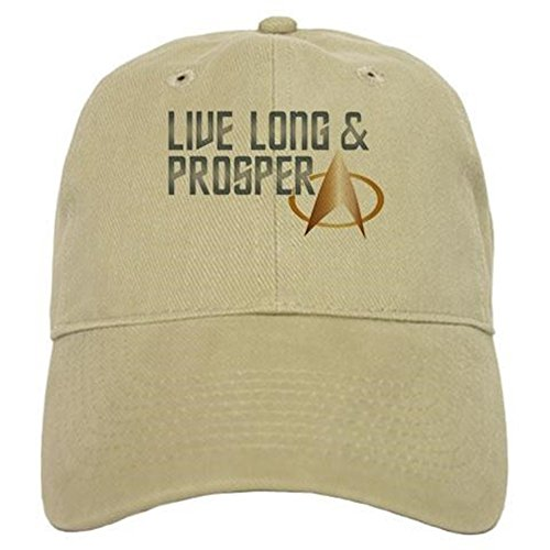 CafePress Live Long & Prosper Baseball Cap with Adjustable Closure, Unique Printed Baseball Hat Khaki