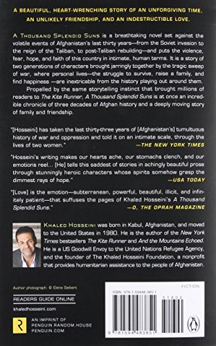 REVIEW & OPINIONS Khaled Hosseini's book A thousand splendid Suns