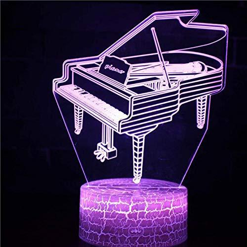 Creativo 3D Luce notturna USB Musica folle Rock Band Chitarra elettrica Basso Strumento musicale Modello Illusione Scrivania Tavolo Tamp LED Luce notturna Decorazione regalo per bambini