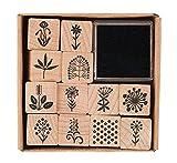 Rico Design – Holzstempel-Set mit Blumenmotiven