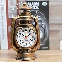 シンプルでかわいい目覚まし時計 レトロなポータブルかわいいミニクリエイティブアラーム時計ラウンドデジタルカラフルなデスクトップデジタル時計の家の装飾 (Color : Gold)