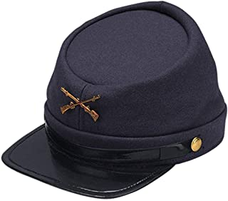 Adults Civil War Yankee Union North Soldier Hat Costume Accessory,Blue,Standard Size