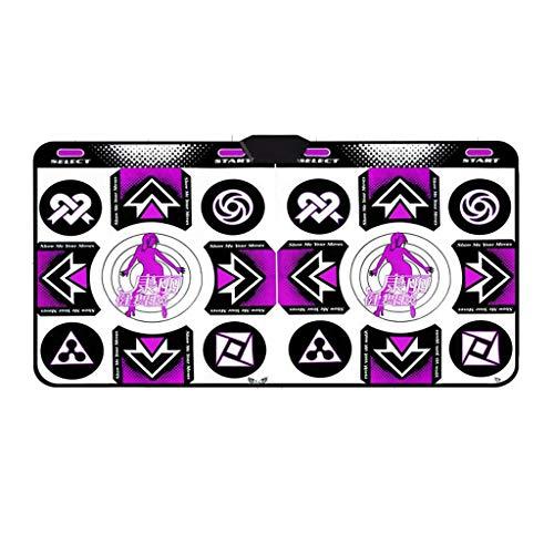 YYF Bonne Isolation Acoustique Double sans Fil Tapis de Danse/éclairage HD/TV Interface PC Fitness somatosensoriel Jeu Dancing Machine Doux