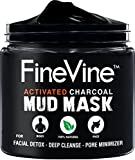 Activated Charcoal Mud Mask - Made in USA - For Deep Cleansing & Exfoliation, Pore Minimizer &...