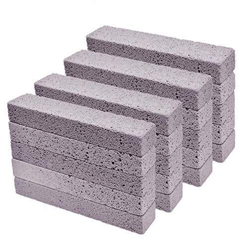 YoleShy 20 Pcs Pumice Stones Sticks Cleaner, Grey Pumice Scouring Pad for Cleaning Toilet Bowl Ring, Bath, Household, Kitchen, Pool - Removing Rust & Lime Calcium