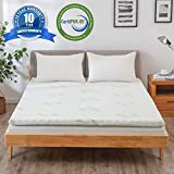 2 Inch Gel Infused Memory Foam Mattress Topper with Removable Bamboo Cover, Soft