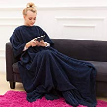 Super Warm and Cozy Blanket for Women and Men, Fleece Wearable Blanket with Sleeves and Giant Pocket,Microplush, Functiona...