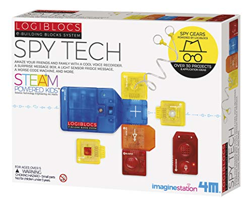 4M Logiblocs E-Building Blocks System Spy Tech Kids Science Kit (4076)