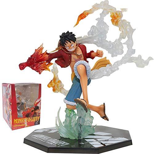 17Cm Anime One Piece Fire Fist Luffy Figura Figuras De Acción Figuras De Acción De PVC Colección Modelo Juguetes