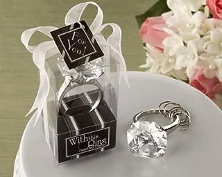 10 Pcs Diamond Engagement Ring Keychain Key Chain Wedding Favors Bridal Shower Favors