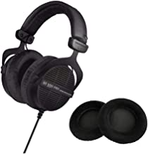 Beyerdynamic DT 990 PRO Studio 250 OHM Headphones (Ninja Black, Limited Edition) with Extra Set of Earpads (Black) Bundle